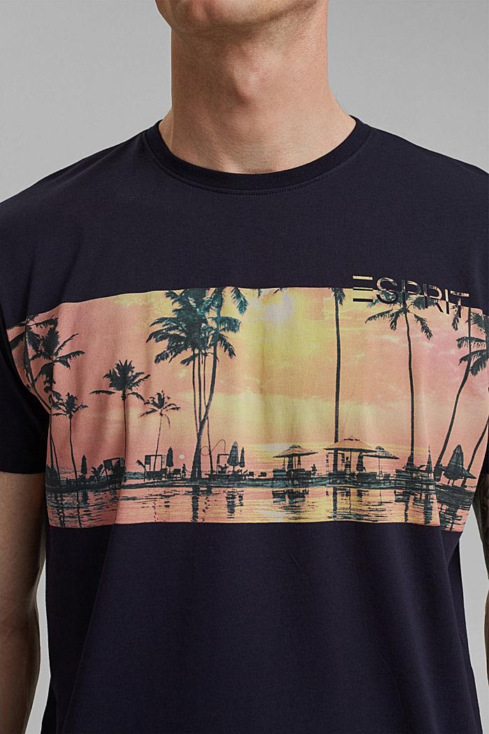 T-shirt en jersey doté d´un imprimé, 100% coton bio, NAVY, detail image number 1