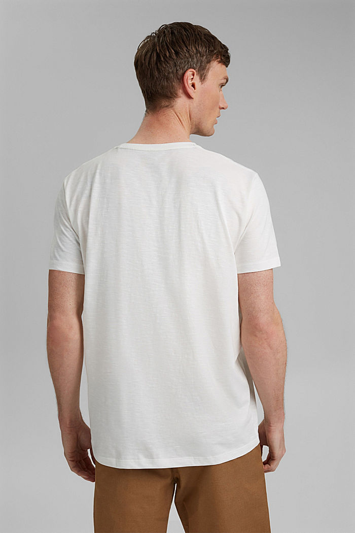 Jersey T-shirt with a print, 100% organic cotton, OFF WHITE, detail image number 3