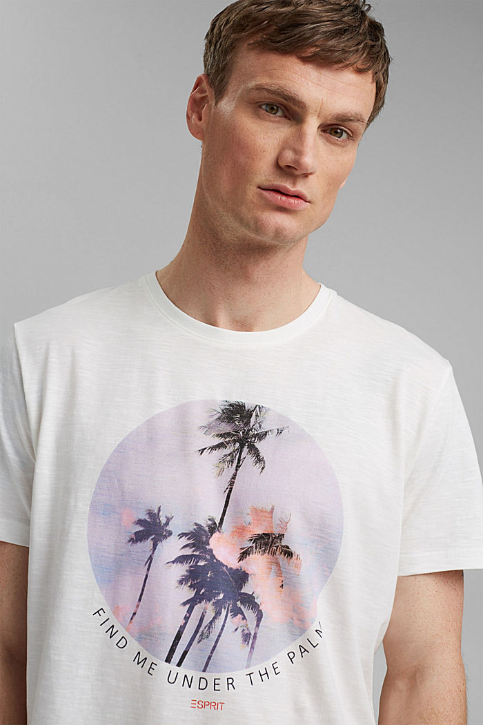 Jersey T-shirt with a print, 100% organic cotton, OFF WHITE, detail image number 5