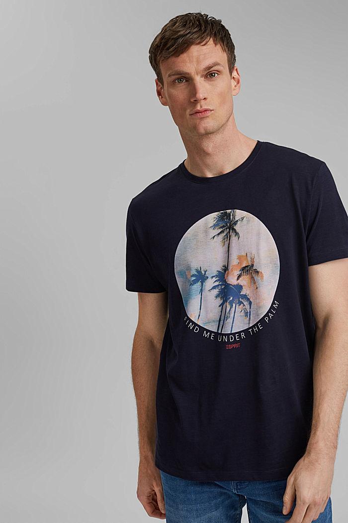 T-shirt en jersey doté d´un imprimé, 100% coton bio, NAVY, detail image number 0