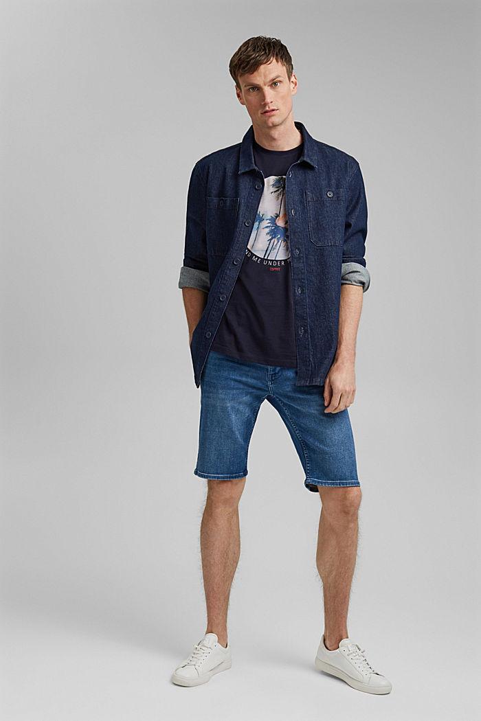 T-shirt en jersey doté d´un imprimé, 100% coton bio, NAVY, detail image number 2
