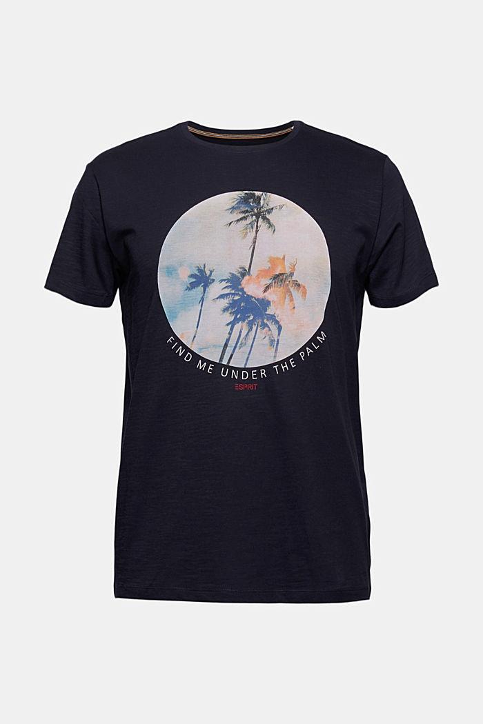 T-shirt en jersey doté d´un imprimé, 100% coton bio, NAVY, detail image number 7