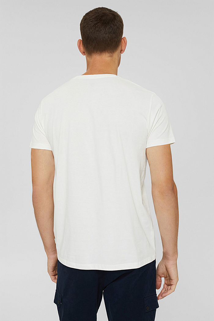 Jersey T-shirt with a logo, organic cotton, OFF WHITE, detail image number 3