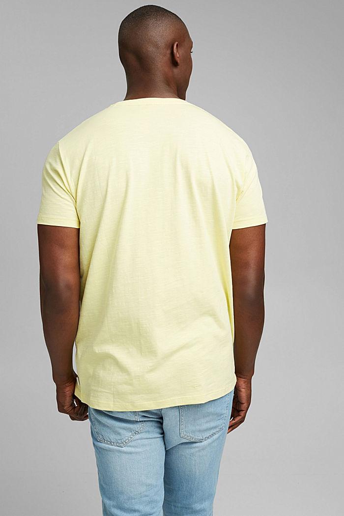 Jersey T-shirt met print, 100% biologisch katoen, LIGHT YELLOW, detail image number 3