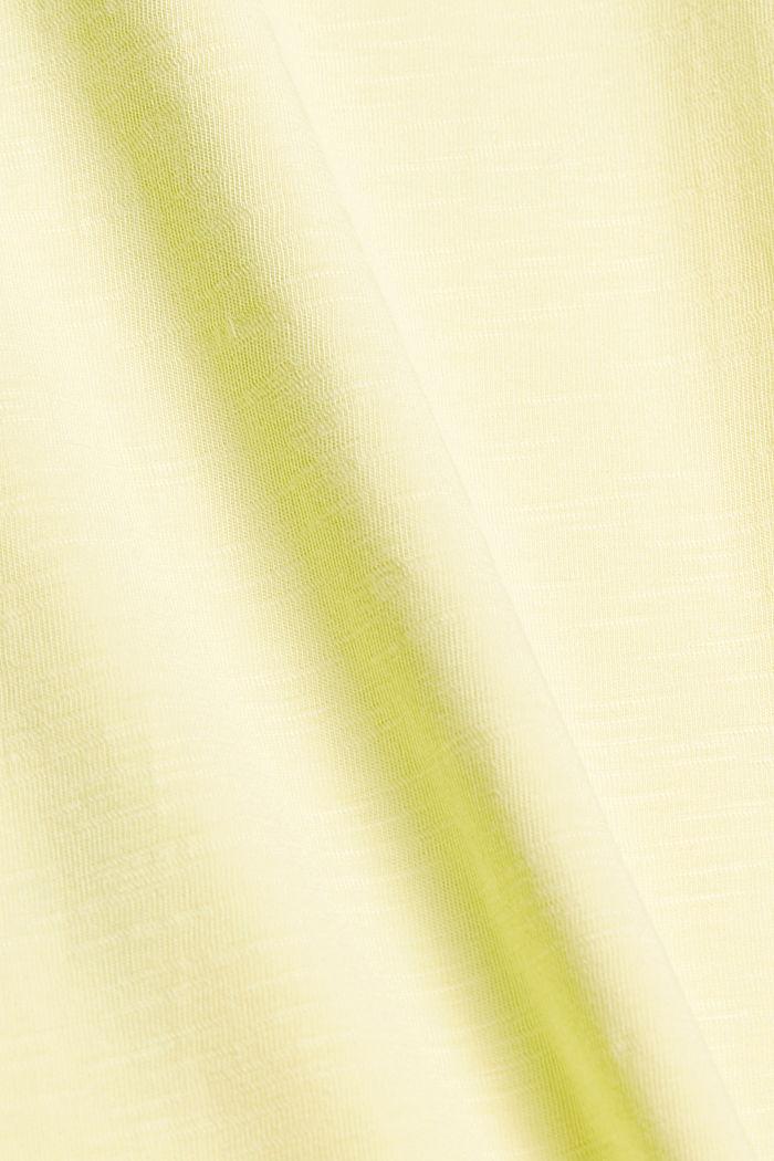 Jersey T-shirt met print, 100% biologisch katoen, LIGHT YELLOW, detail image number 4