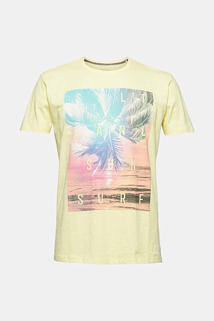 Jersey T-shirt met print, 100% biologisch katoen