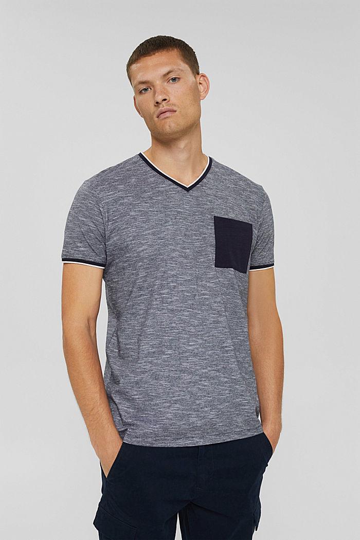 Jersey shirt van 100% biologisch katoen, NAVY, detail image number 0