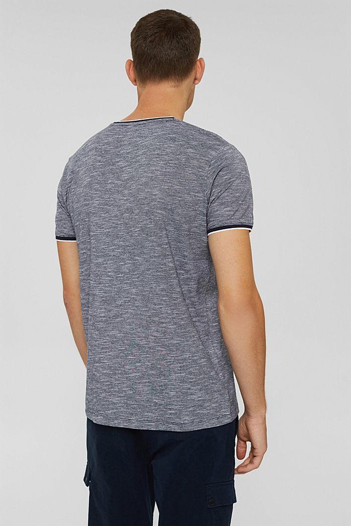 Jersey shirt van 100% biologisch katoen, NAVY, detail image number 3