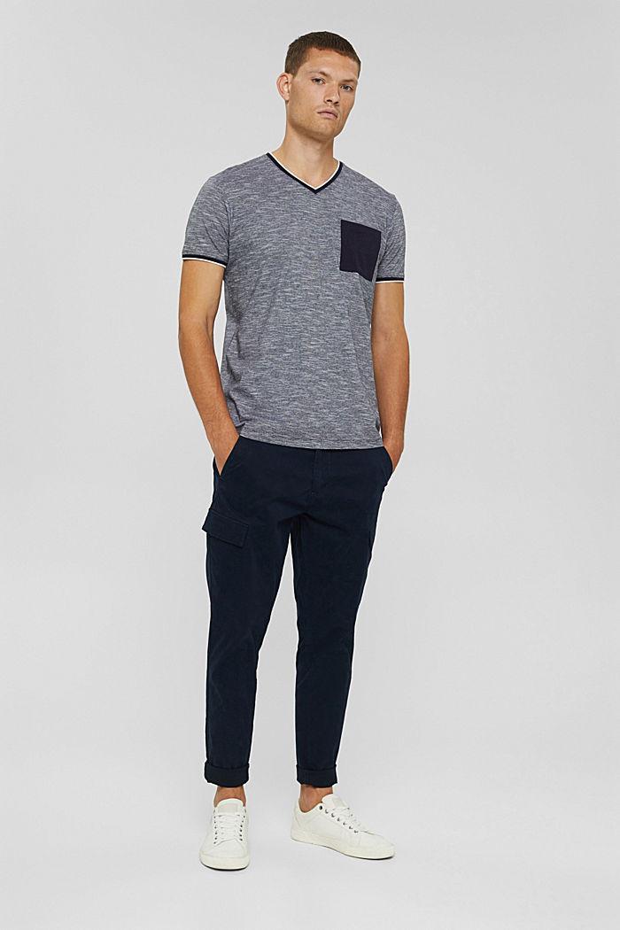 Jersey shirt van 100% biologisch katoen, NAVY, detail image number 2