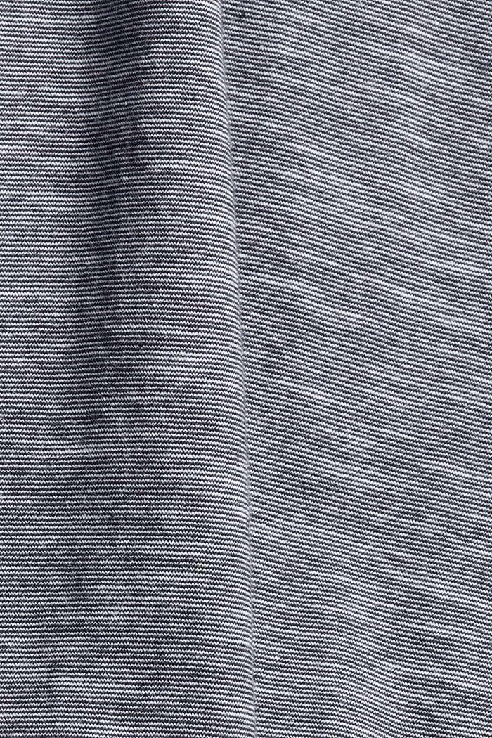 Jersey shirt van 100% biologisch katoen, NAVY, detail image number 4