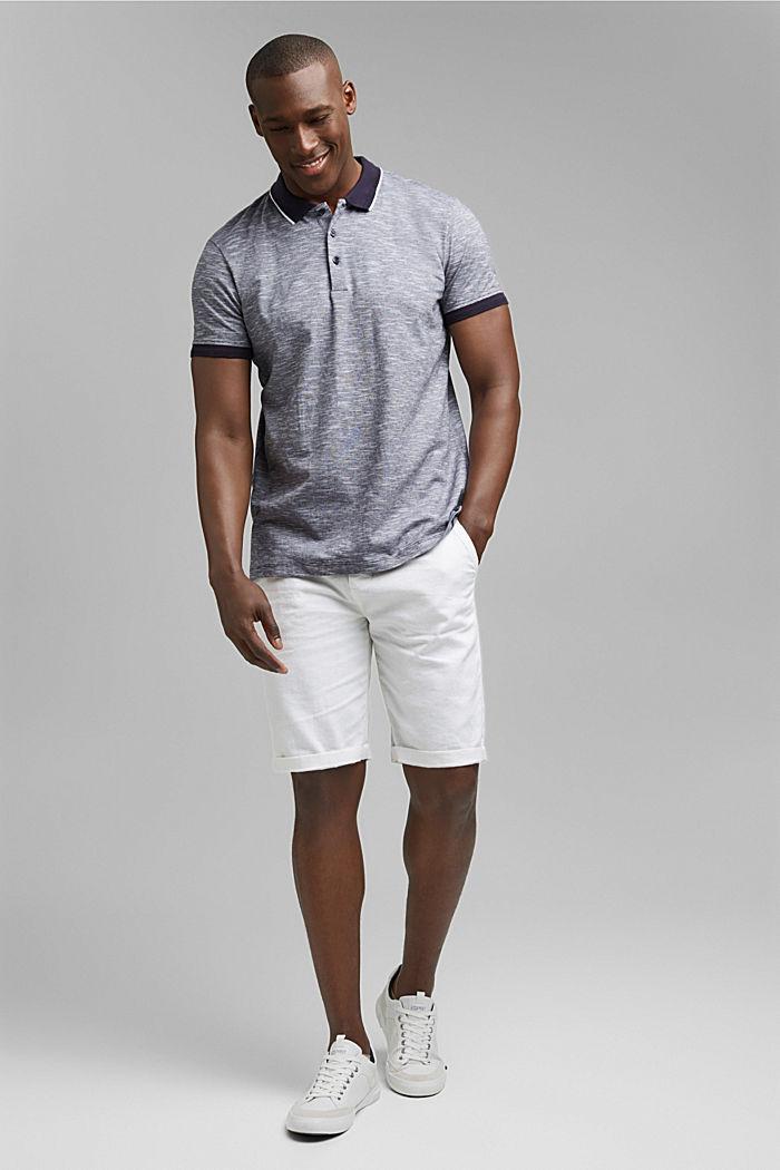 Polo en jersey chiné de coton biologique