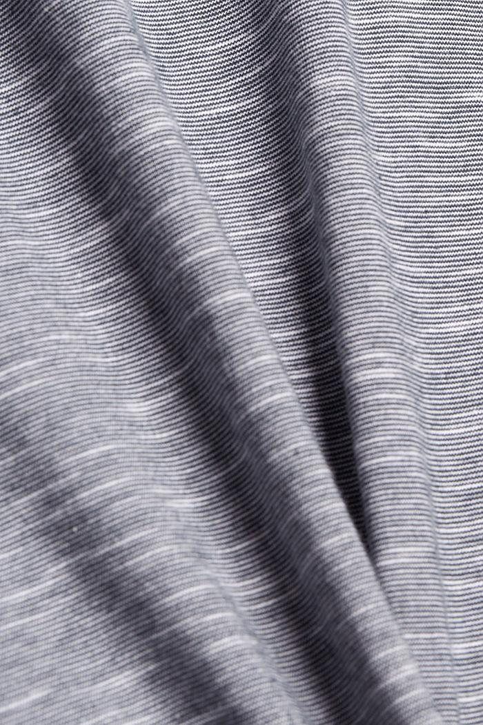 Melange jersey polo shirt made of organic cotton, NAVY, detail image number 5