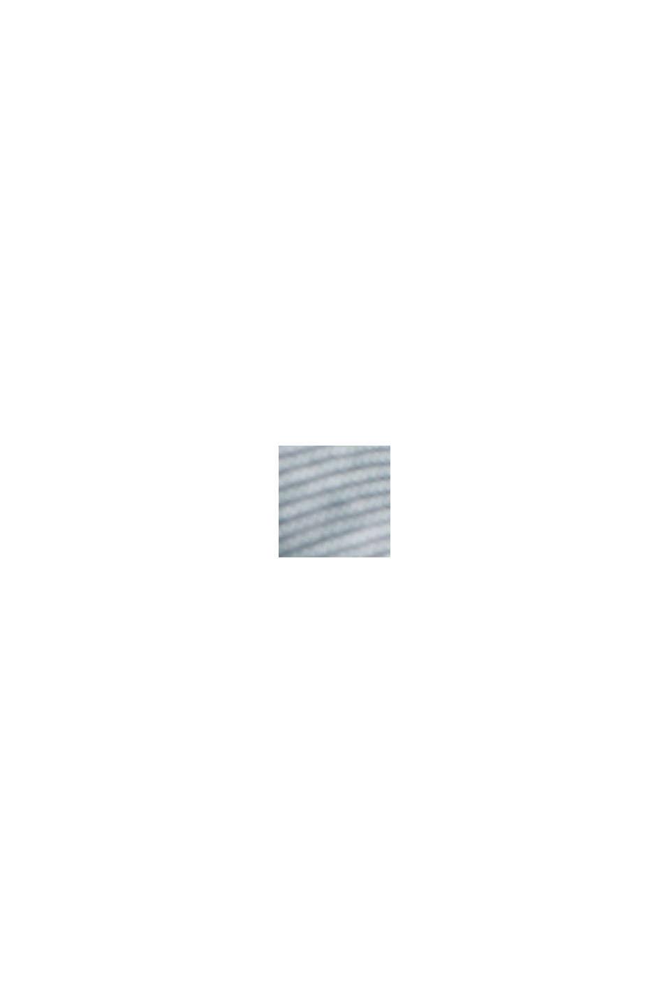 Meleerattu jerseypikee luomupuuvillaa, TEAL BLUE, swatch