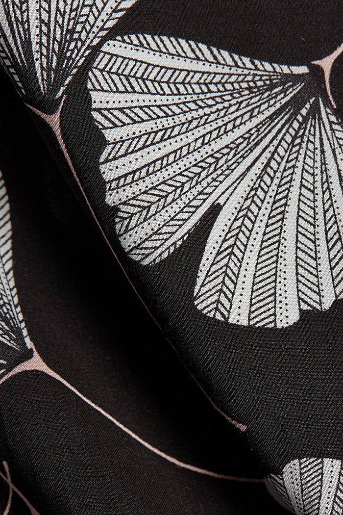 Pyjama à imprimé ginko, LENZING™ ECOVERO™, BLACK, detail image number 3