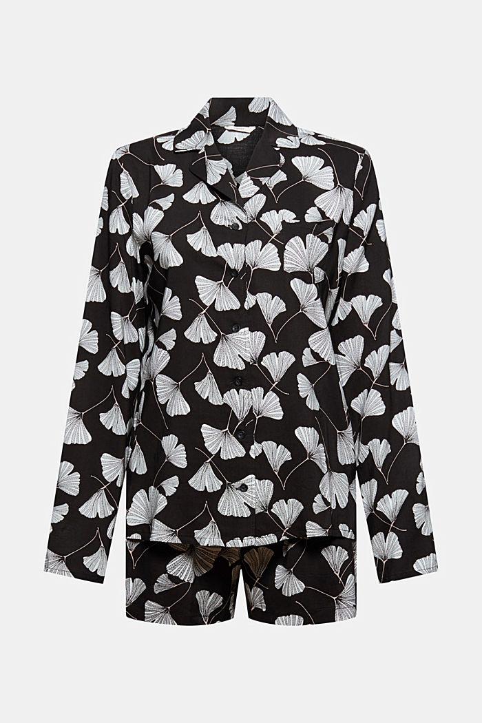 Pyjama met ginkgoprint, LENZING™ ECOVERO™