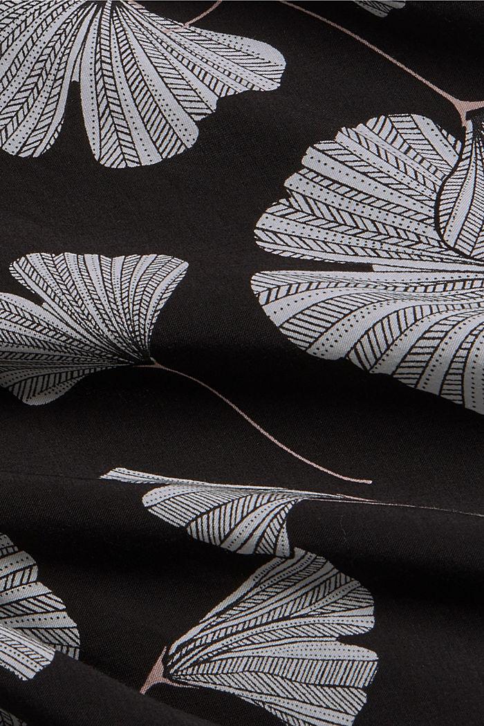 Nachthemd mit Ginko-Print, LENZING™ ECOVERO™, BLACK, detail image number 4