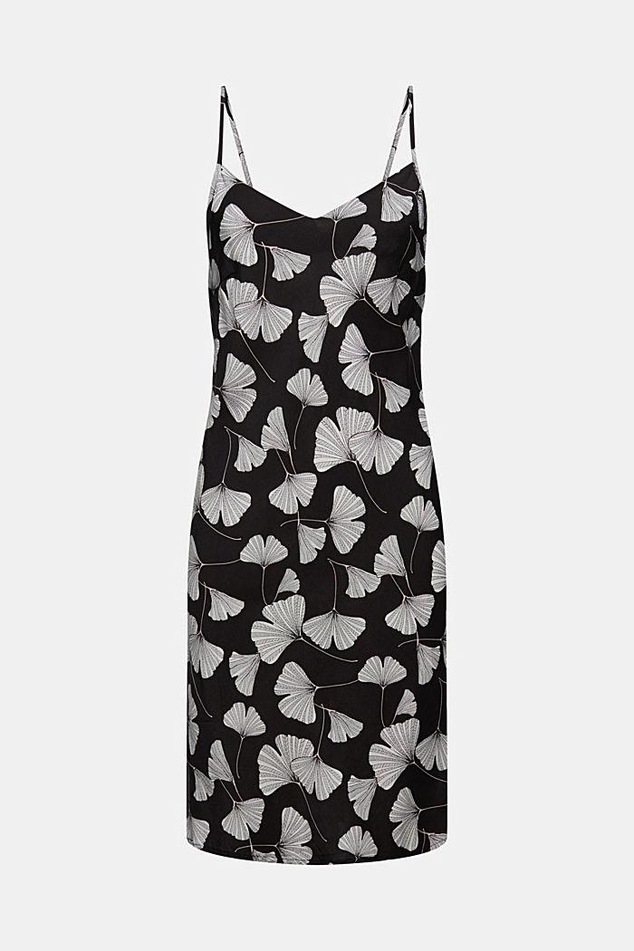 Nachthemd met ginkgoprint, LENZING™ ECOVERO™