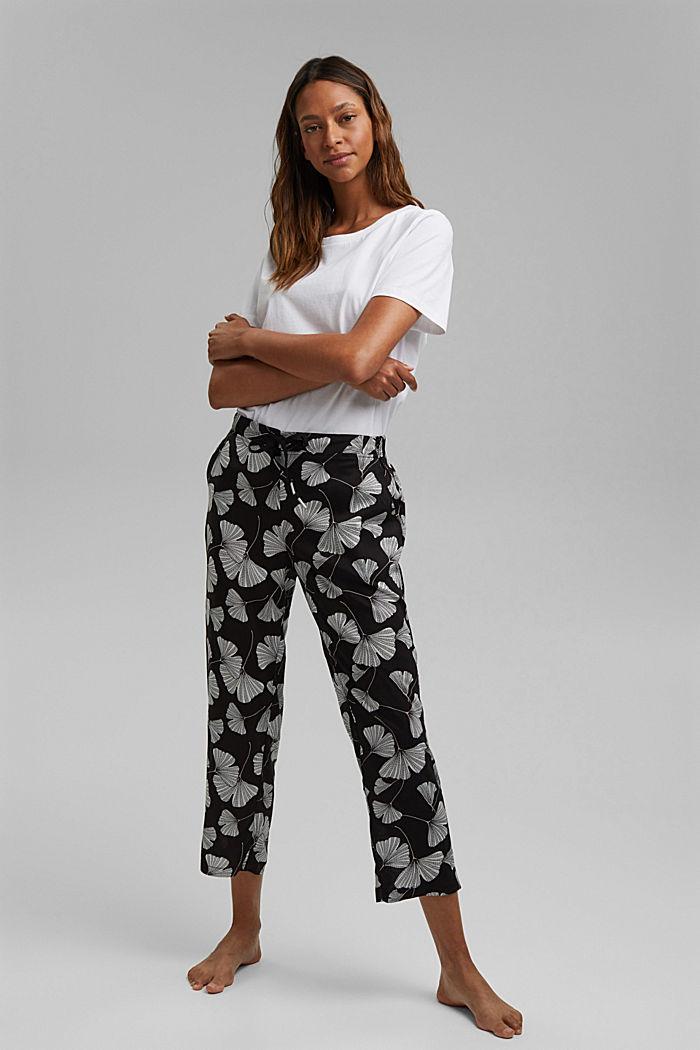 Pyjamabroek met ginkgoprint, LENZING™ ECOVERO™