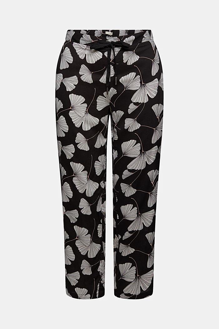Pantaloni da pigiama con stampa di ginko, LENZING™ ECOVERO™