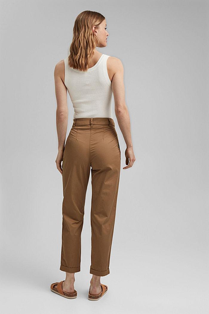 Pantalón chino tobillero en 100 % algodón, BARK, detail image number 3