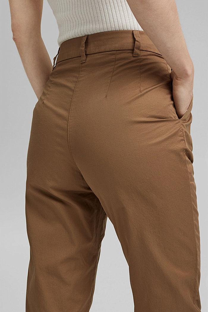 Pantalón chino tobillero en 100 % algodón, BARK, detail image number 2