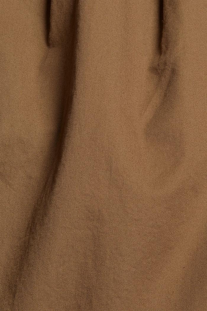 Pantalón chino tobillero en 100 % algodón, BARK, detail image number 4