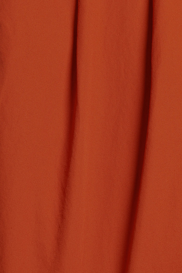 Ankle-length chinos made from 100% cotton, TERRACOTTA, detail image number 4
