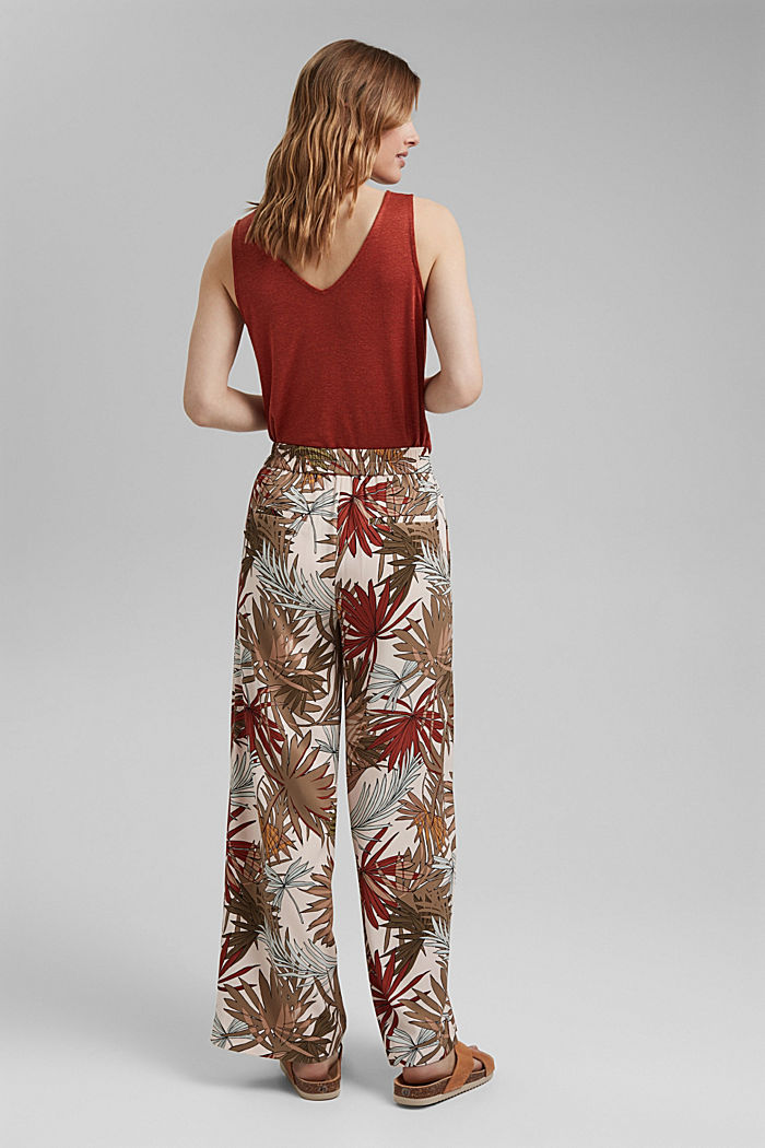 Printed wide-leg trousers, LIGHT PINK, detail image number 3