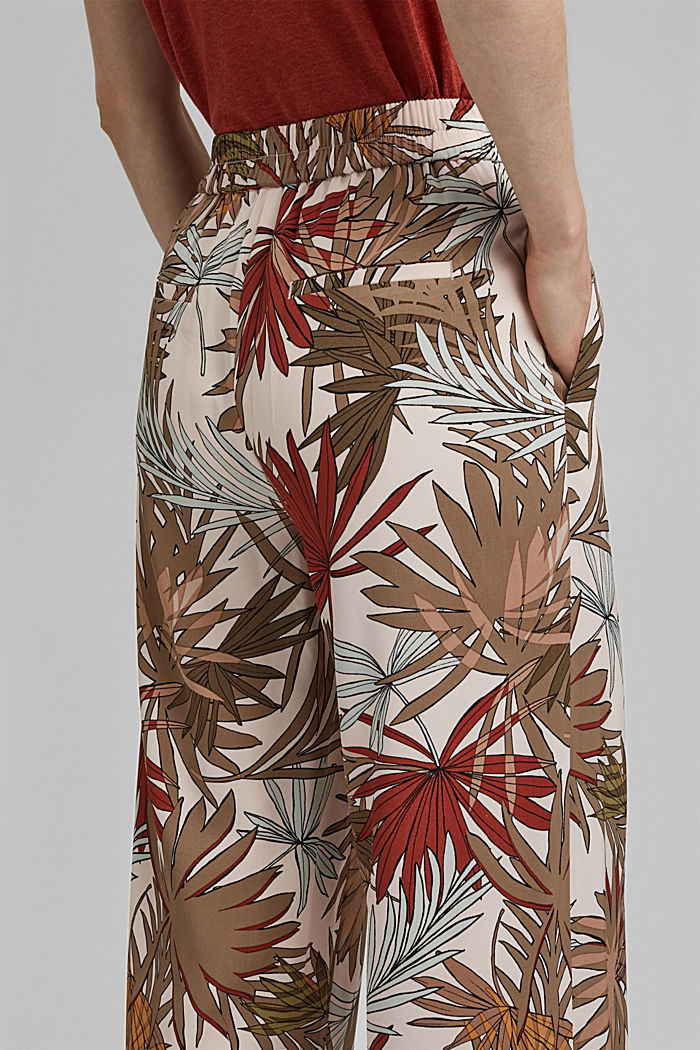 Printed wide-leg trousers, LIGHT PINK, detail image number 2