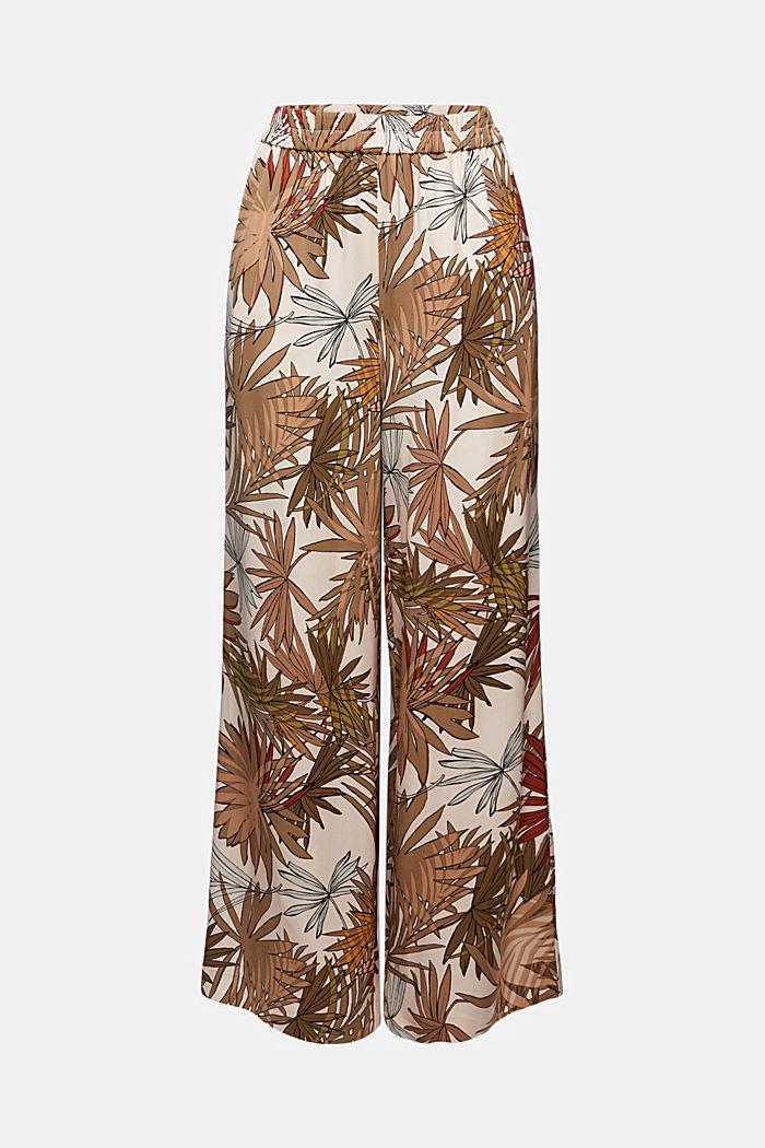 Spodnie z nadrukiem z szerokimi nogawkami