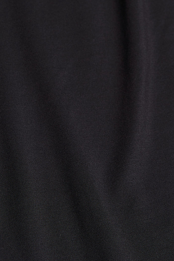 Soepele culotte met LENZING™ ECOVERO™, BLACK, detail image number 4
