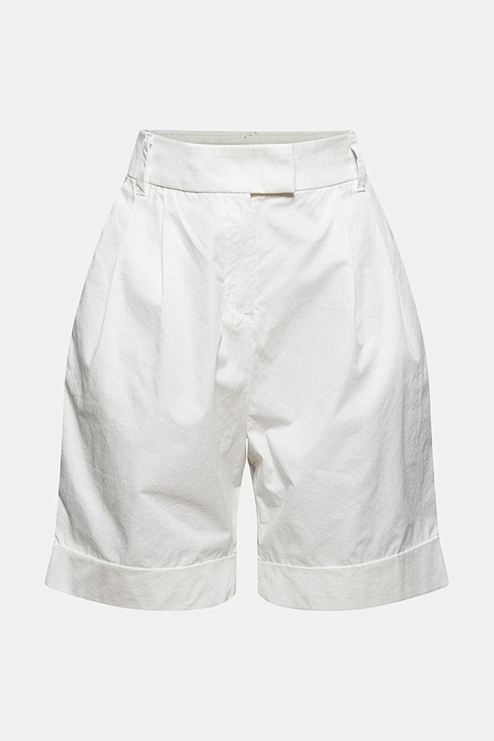 High rise-shorts med læg under linningen, bomuld