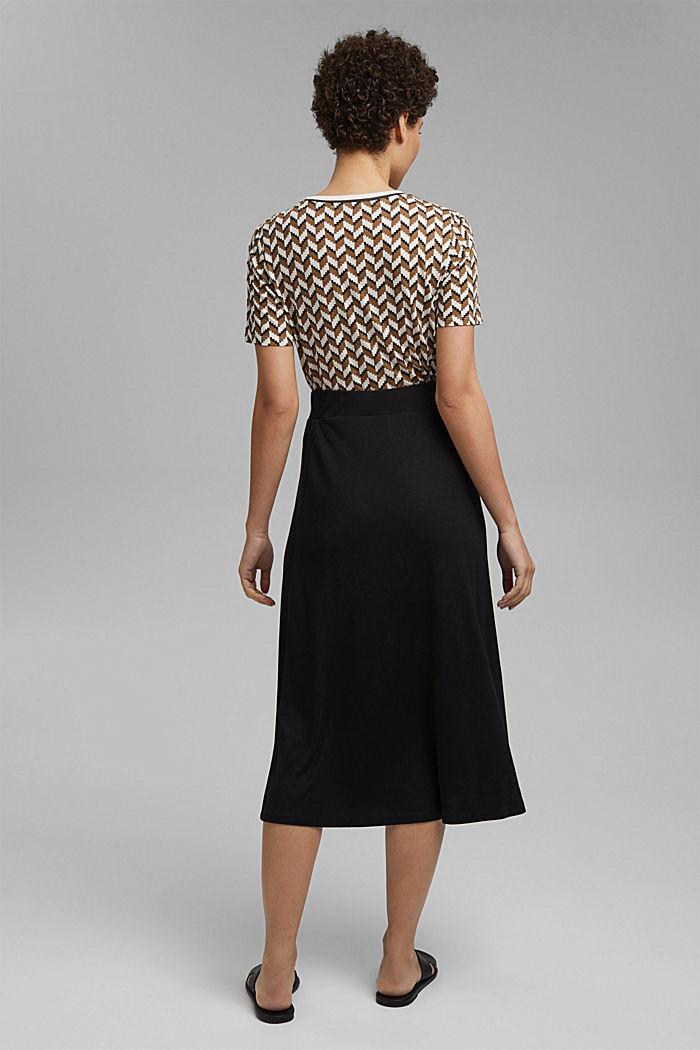 Made of TENCEL™: jersey midi skirt, BLACK, detail image number 3