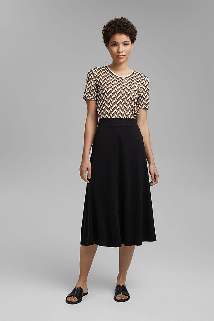 Made of TENCEL™: jersey midi skirt, BLACK, detail image number 1