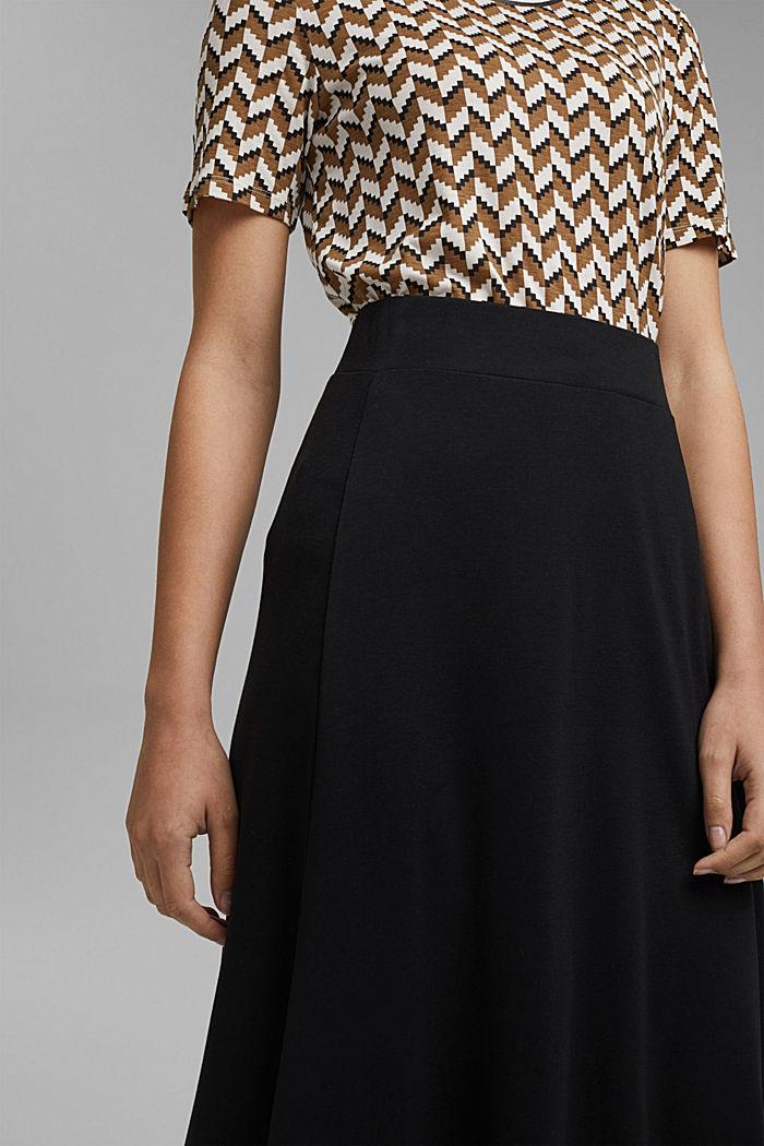 Made of TENCEL™: jersey midi skirt, BLACK, detail image number 2
