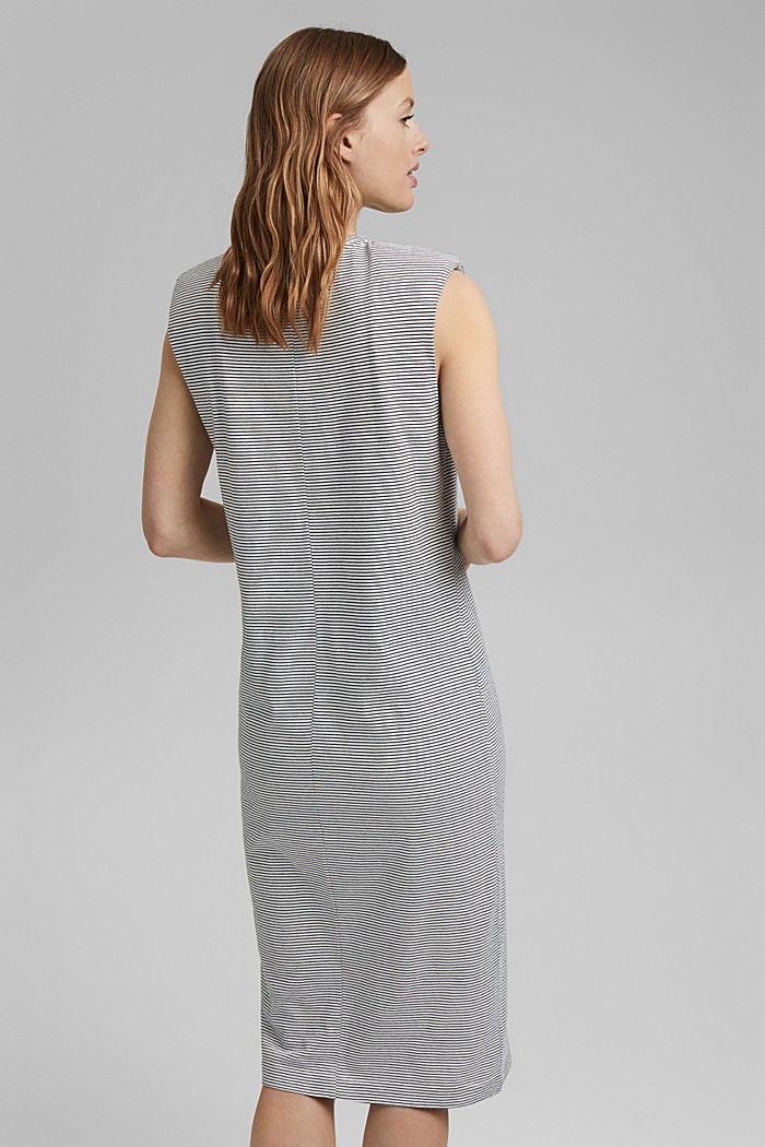 Jerseykleid mit Schulterpolstern, OFF WHITE, detail image number 2