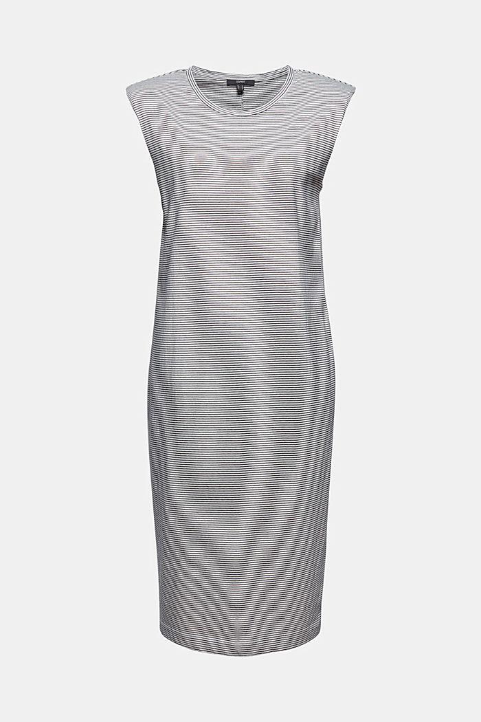 Jerseykleid mit Schulterpolstern, OFF WHITE, detail image number 5