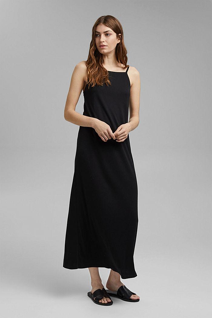 Aus TENCEL™: Jerseykleid mit Rückenausschnitt, BLACK, detail image number 0
