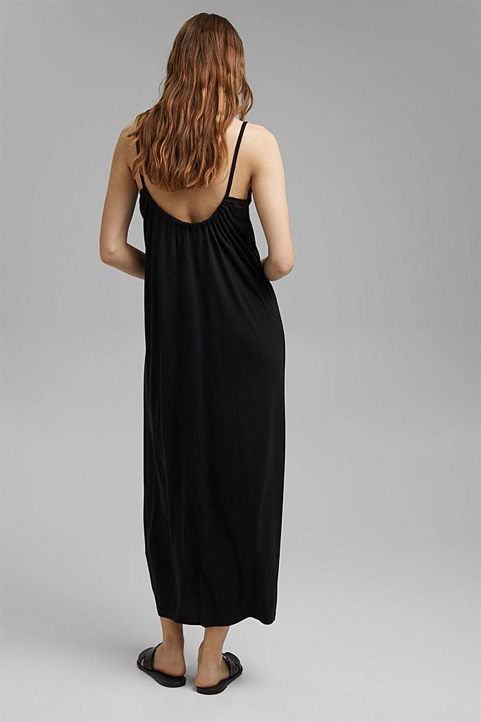 Aus TENCEL™: Jerseykleid mit Rückenausschnitt, BLACK, detail image number 2