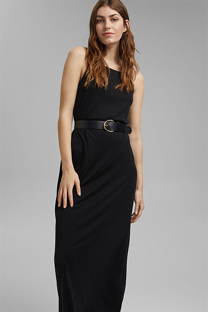 Aus TENCEL™: Jerseykleid mit Rückenausschnitt, BLACK, detail image number 5
