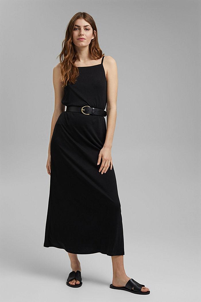Aus TENCEL™: Jerseykleid mit Rückenausschnitt, BLACK, detail image number 1