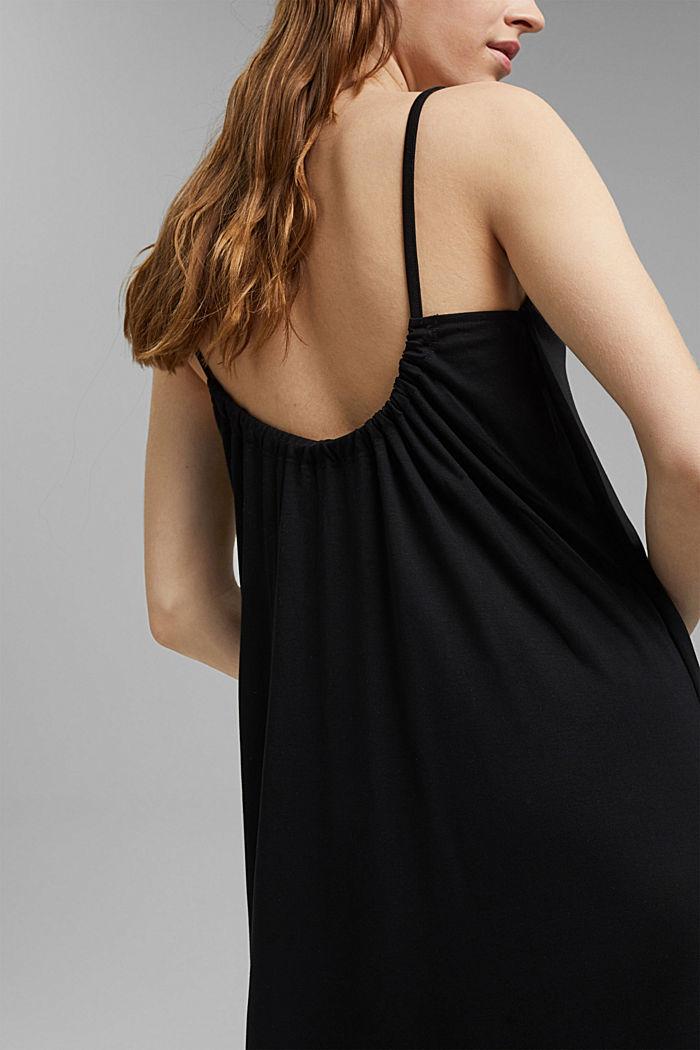 Aus TENCEL™: Jerseykleid mit Rückenausschnitt, BLACK, detail image number 3