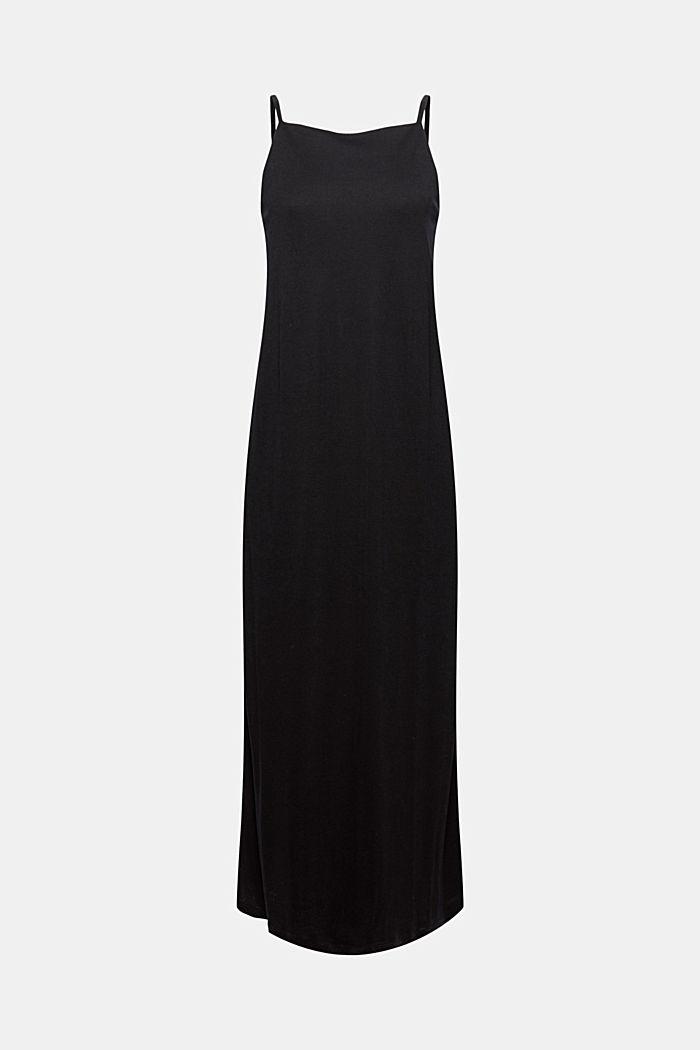 Aus TENCEL™: Jerseykleid mit Rückenausschnitt, BLACK, detail image number 6