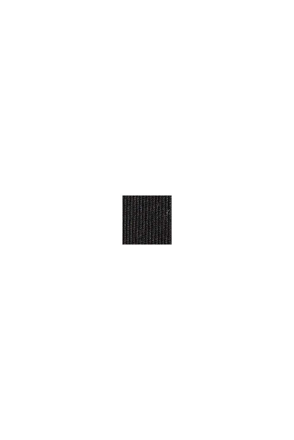 Van TENCEL™: jersey jurk met cut-out op de rug, BLACK, swatch