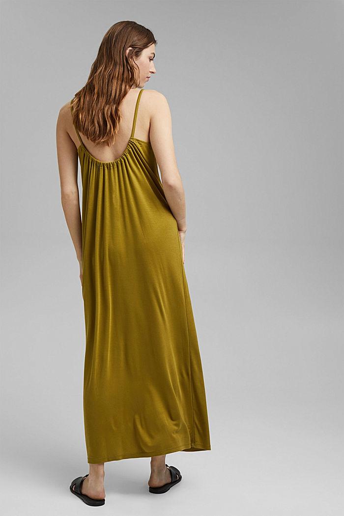Aus TENCEL™: Jerseykleid mit Rückenausschnitt, OLIVE, detail image number 2