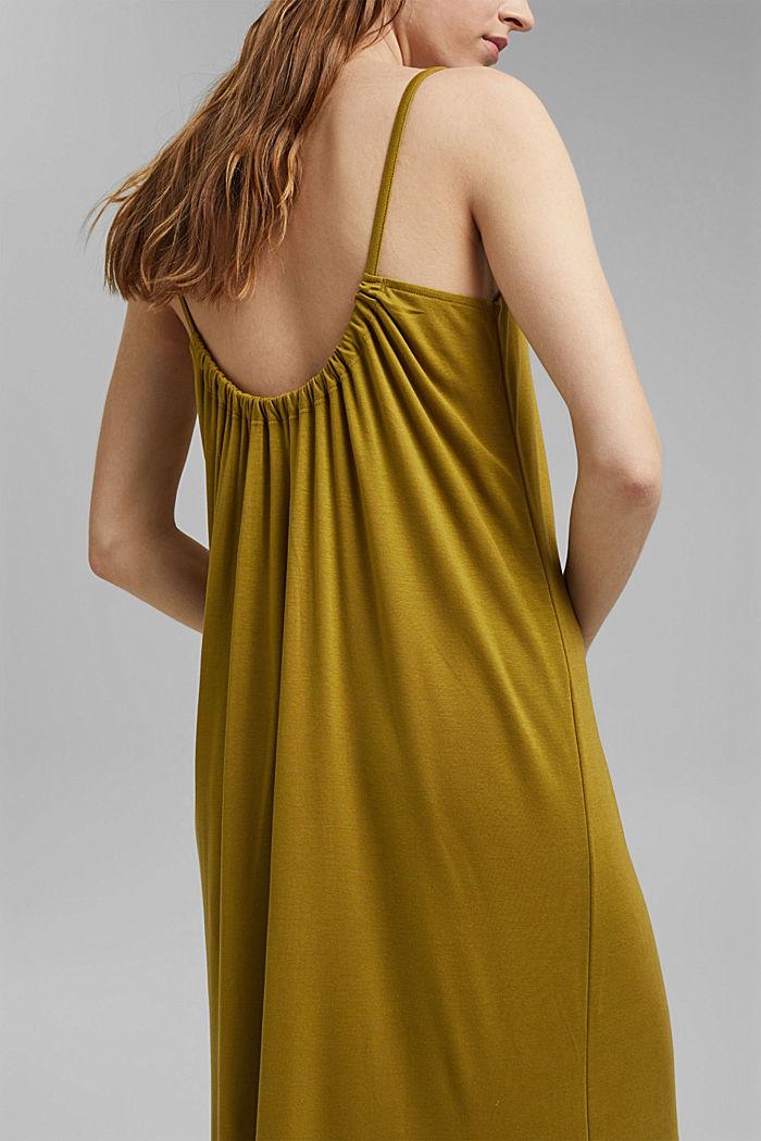 Aus TENCEL™: Jerseykleid mit Rückenausschnitt, OLIVE, detail image number 3