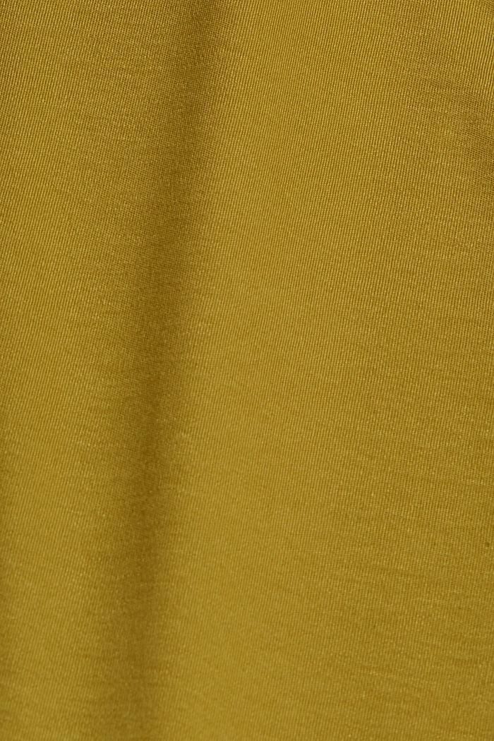 Aus TENCEL™: Jerseykleid mit Rückenausschnitt, OLIVE, detail image number 4