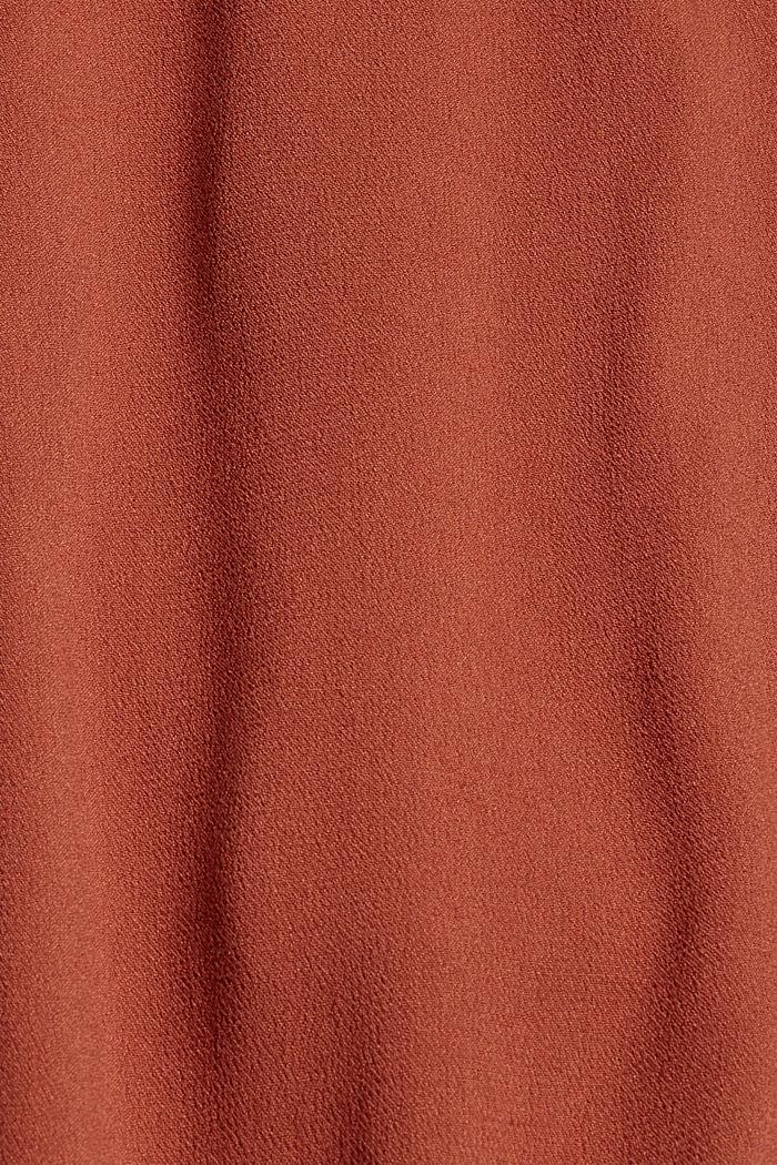 Midikleid aus Viskose-Crêpe, TERRACOTTA, detail image number 4