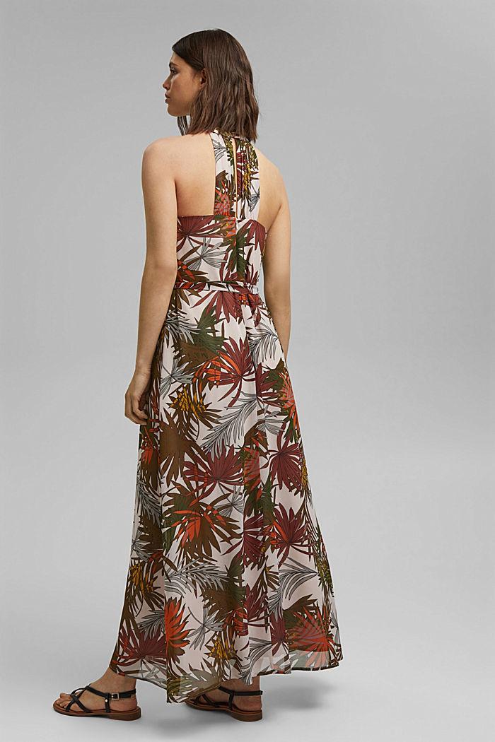 Halterneck maxi dress with botanical print, LIGHT PINK, detail image number 2