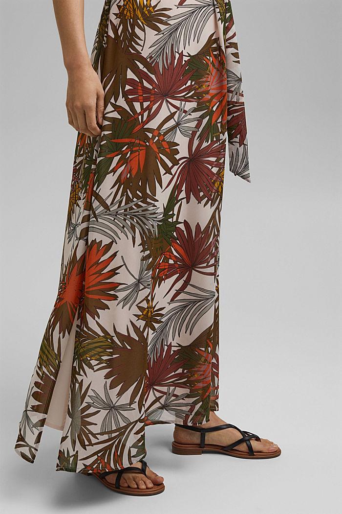 Halterneck maxi dress with botanical print, LIGHT PINK, detail image number 5